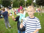 Photo of Windsor students with pinwheels