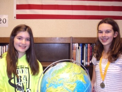 Photo of the students in the Geography Bee