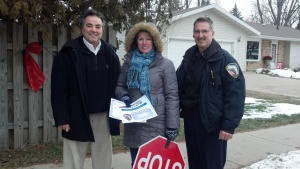 •Jon Bales, Suzanne Wentland, and Bob Henze (corner of Jefferson and S. Cleveland)