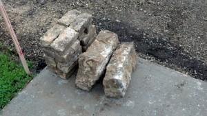 bricks-cement blocks - HEC parking lot