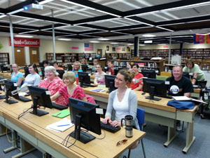 Staff learn how to use the district's new website as a communication tool to benefit students and parents.