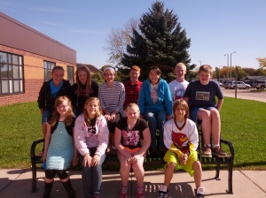 Photo of middle school students of the month for September
