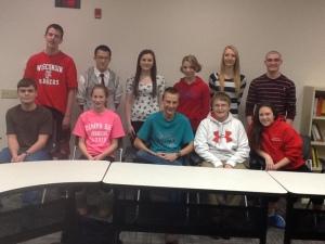 L-R: (front) Domenic, Gwen, Austin, Matthew, Ashley  (back) Zach, Tomy, Jenna, Jocelyn, Bethany, Mike
