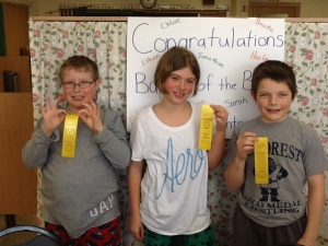 Eagle Point Elementary School: Ethan Bauer, Brooke Trochinski, and Brody Hemauer.