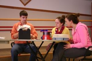James Kolonko, Chloe McKay, and Maddi Long-Perro call off numbers