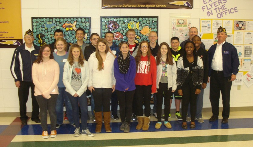 Photo of 8th grade students who attended Youth Government Day