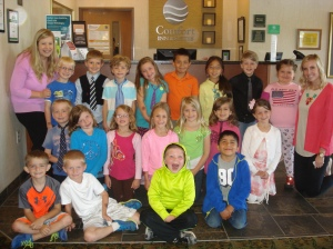 Mrs. Carter's class visited their business partner, Ashley Olson at Comfort Inn & Suites.