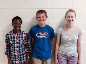 L ro R: Sarah Stouffer-Lerch, Jacob Chambers, Rosie Hess
