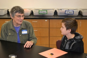 Barb spoke with students in three of the English/Language Arts classes.