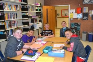 A group of students interviewed high school senior, Cody Kramschuster.