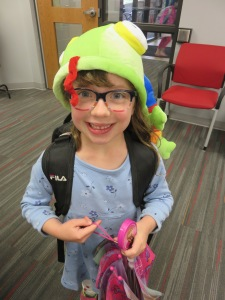 Yahara Elementary School student, Brinley Schwanke, dressed up to celebrate Earth Day.