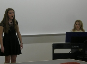 Senior Meredith Sullivan and her accompanist Jenni Freitag