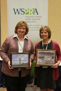 Photo of Ann Stettbacher and Debbie Brewster with Spectrum Awards