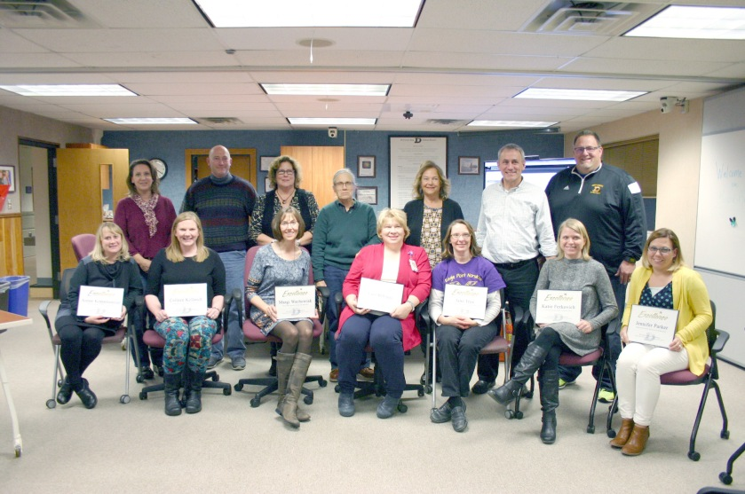 Kohl teacher nominees and board of education members