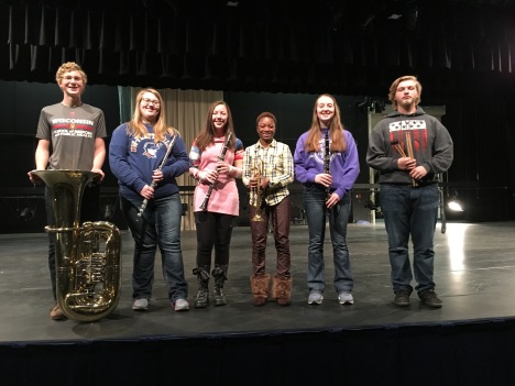 Six honor band students