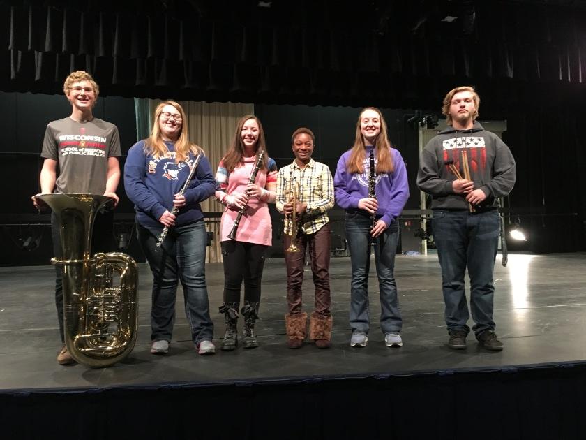 Six honor band students