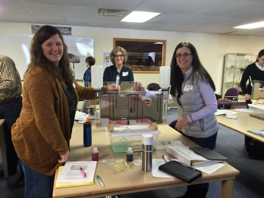 Kelly Kramer and Caryn Odgers at workshop
