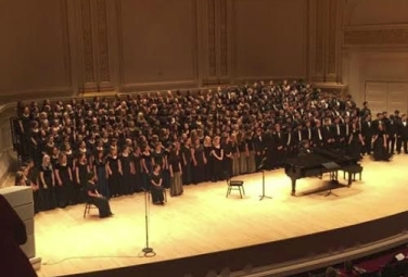 Students performing at Carnagie Hall