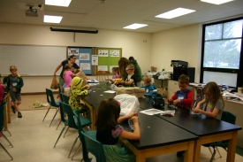 Students working on a science experiment