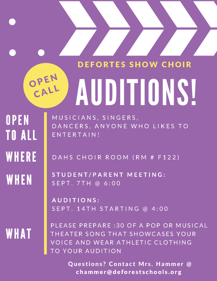 DAHS show choir auditions begin Sept  7 – DASD News Blog