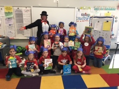 """Group of students and teacher dressed up as """"Things"""""""