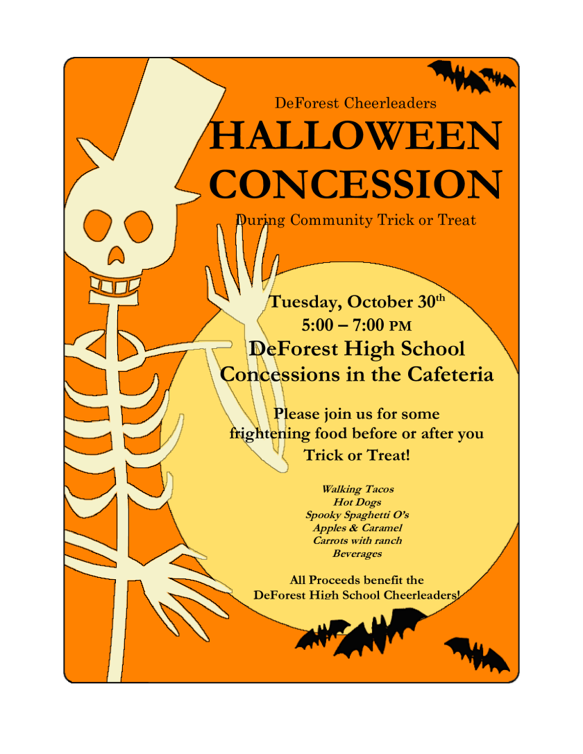 Halloween Concession flyer