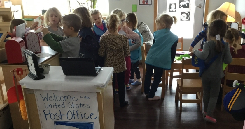 students playtime post office